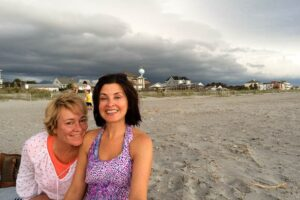 Beckie Hemmerling & Holly Herrick at Folly Beach SC | EatSimpleFood.com