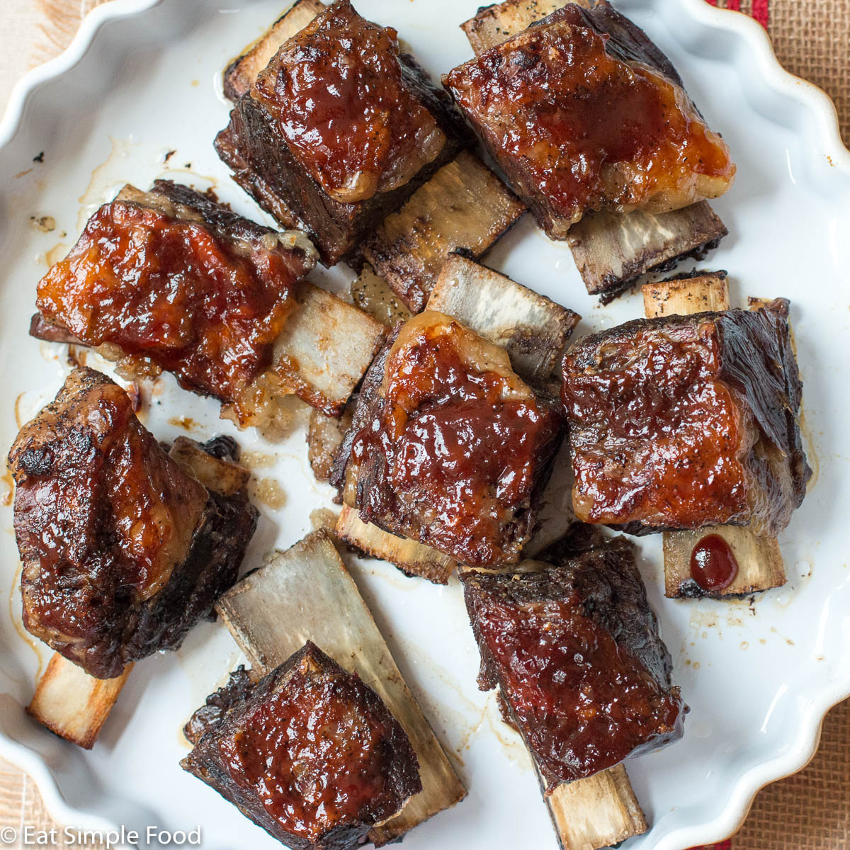 Easy Oven Baked Bbq Beef Short Ribs Recipe Eat Simple Food