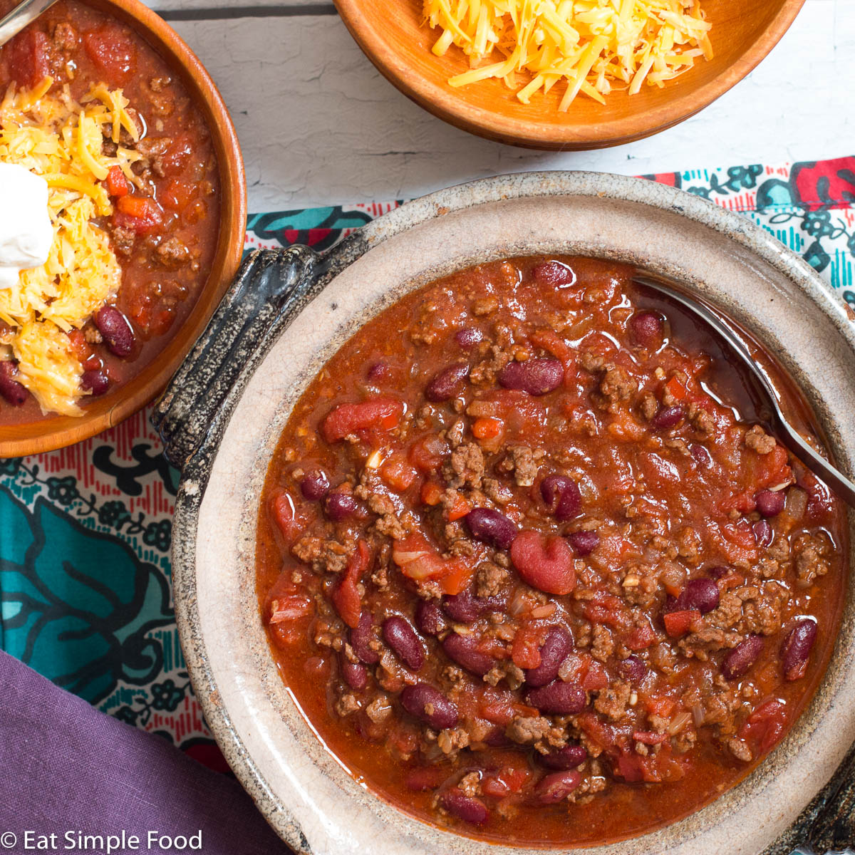 Easy And Classic Beef And Bean Chili Recipe Eat Simple Food