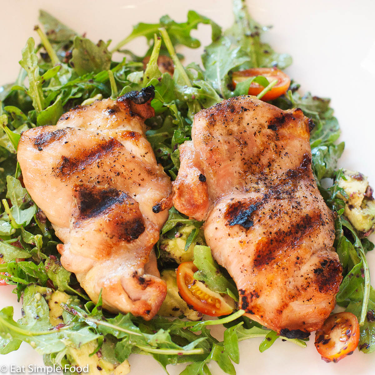 Grilled Chicken Salad With Basil Vinaigrette Recipe Eat Simple Food