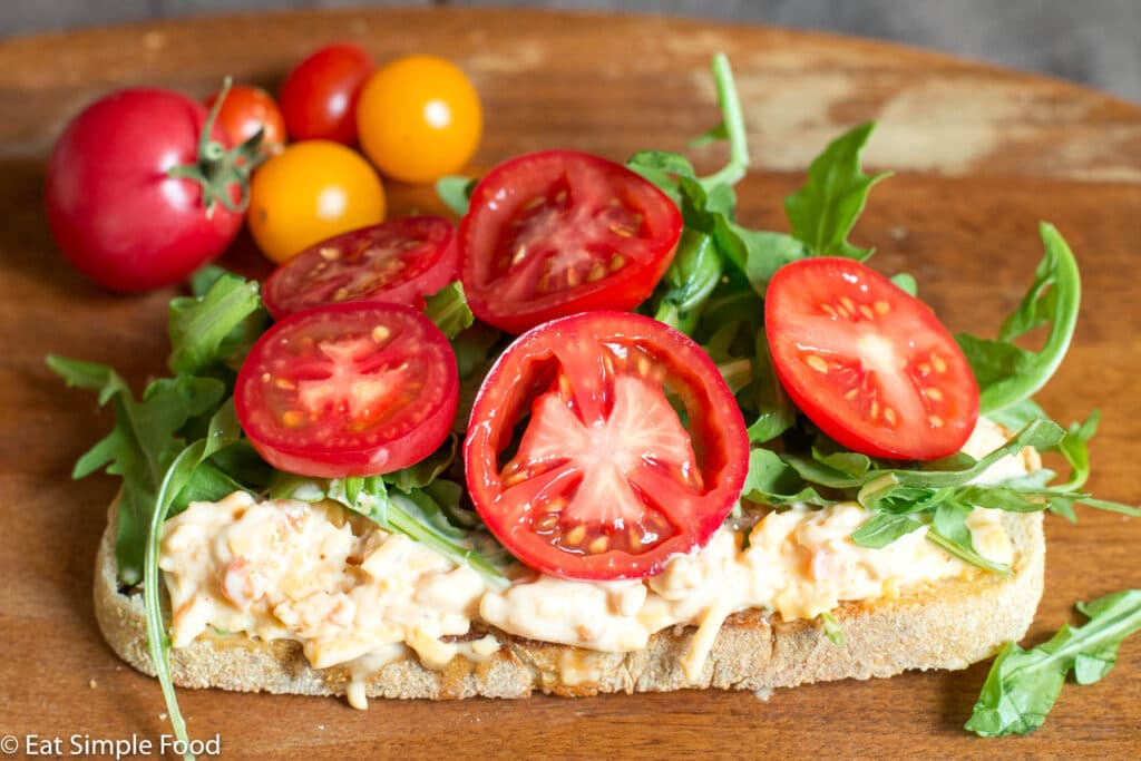 Pimento Cheese & Arugula Tartine