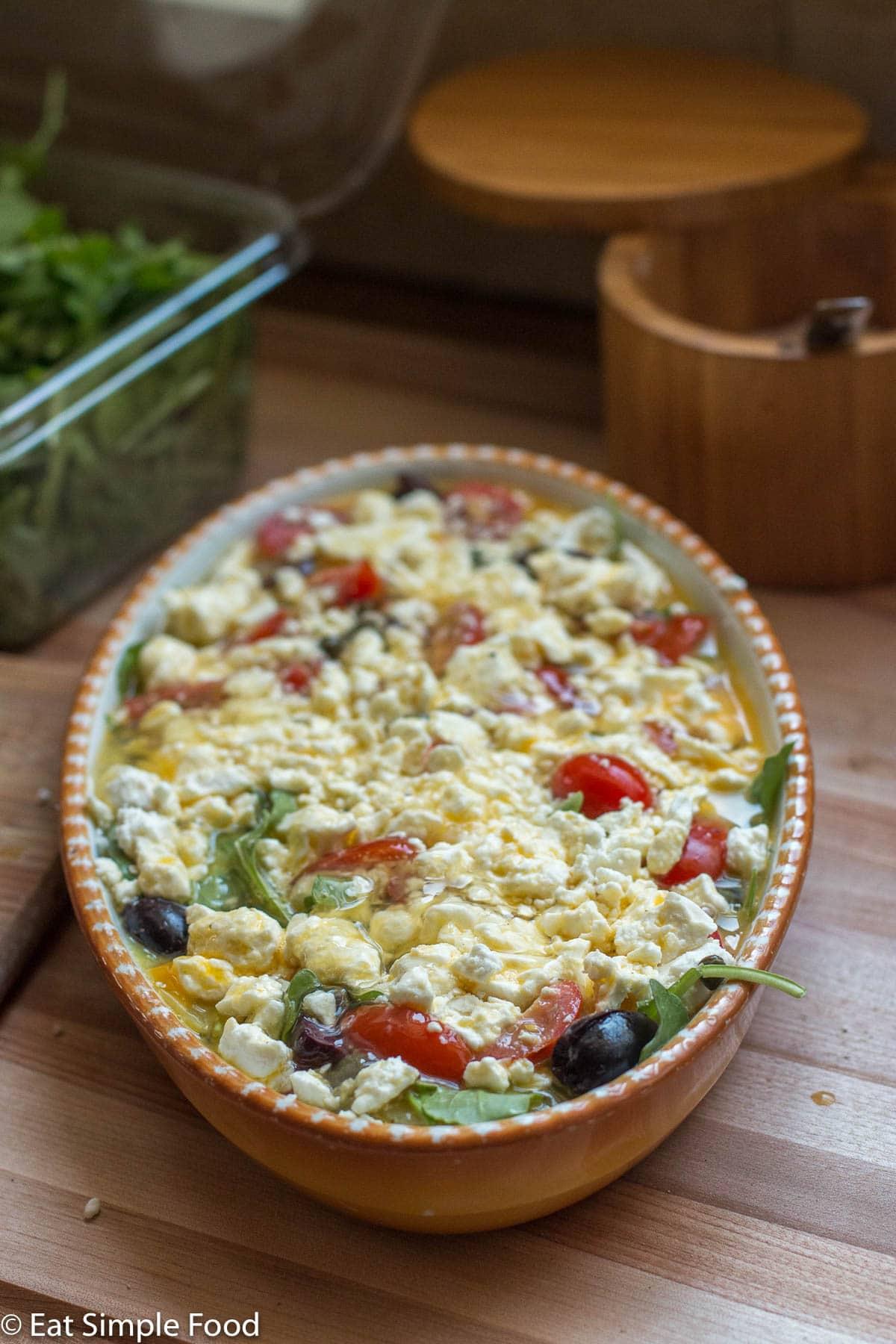 Vegetable Mediterranean Frittata Recipe With Feta Eat Simple Food